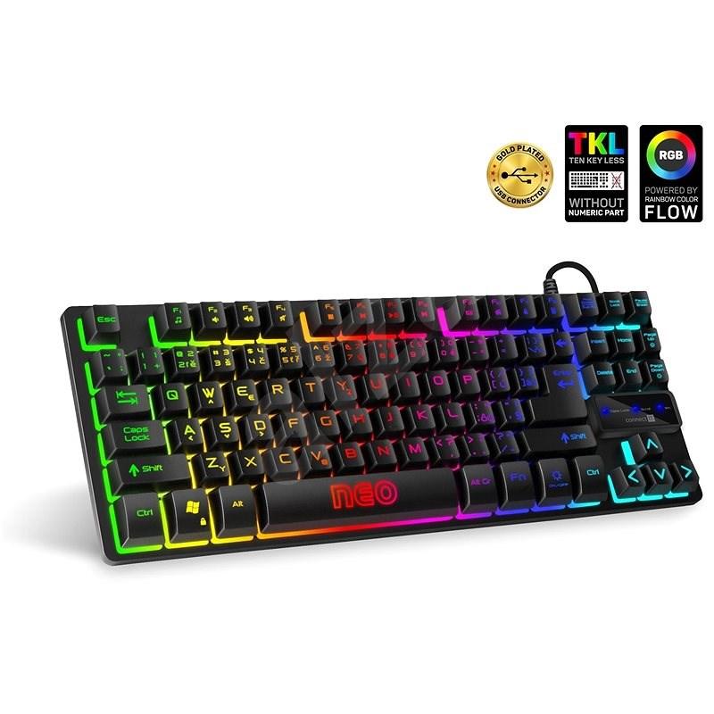 CONNECT IT NEO Compact Keyboard černá - CZ/SK - Herní klávesnice
