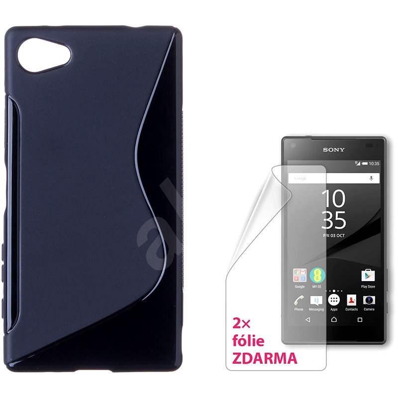 CONNECT IT S-Cover Sony Xperia Z5 Compact černé - Ochranný kryt
