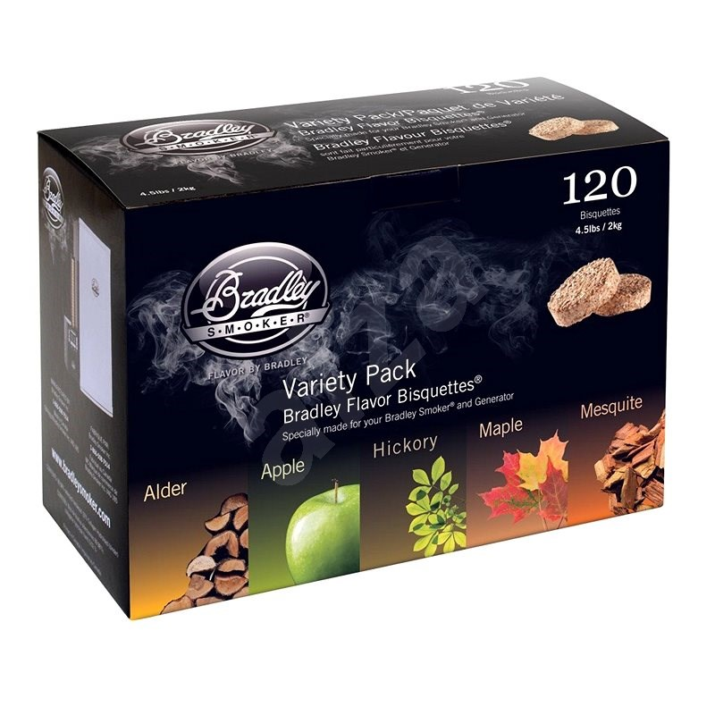 Bradley Smoker - Brikety Premium Five Flavour Varieties 120ks - Brikety