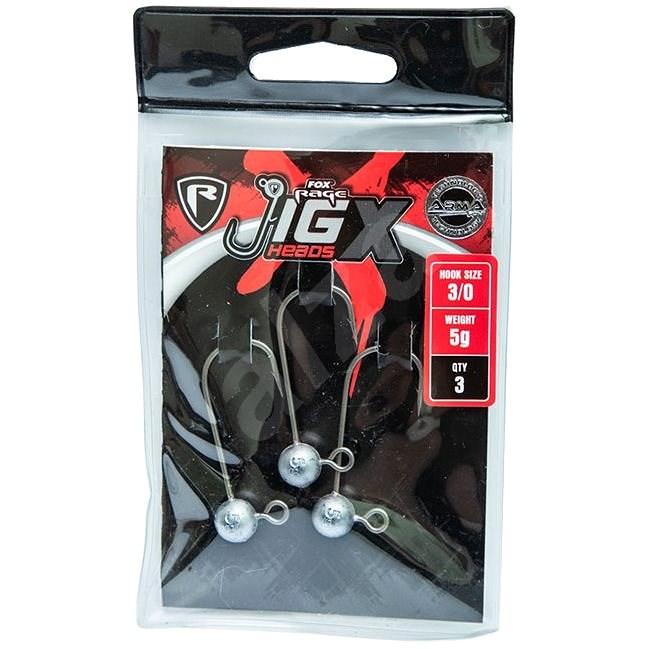 FOX Rage Jig X Heads 5g Velikost 4/0 3ks - Jigová hlavička