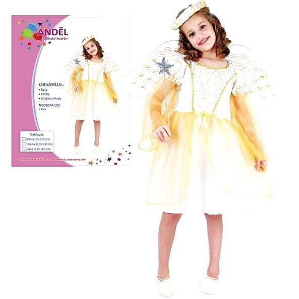 Šaty na karneval - Anděl vel. M - Dětský kostým
