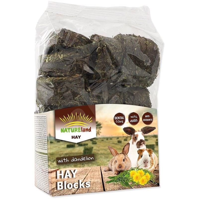 Nature Land Seno Hay bloky s pampeliškou 600 g - Krmivo pro hlodavce