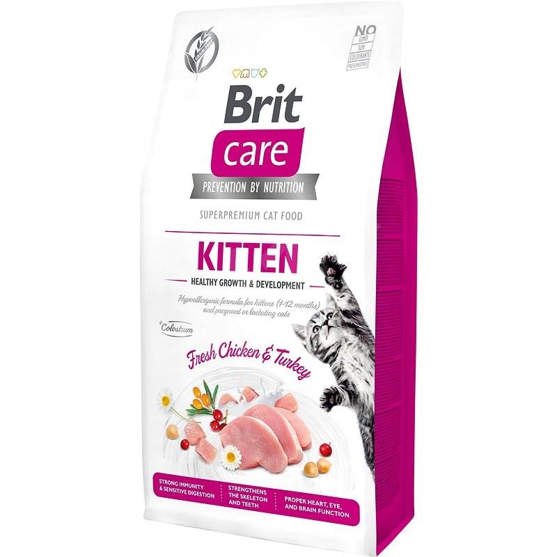 Brit Care Cat Grain-Free Kitten Healthy Growth & Development, 7 kg - Granule pro koťata