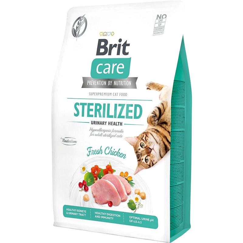 Brit Care Cat Grain-Free Sterilized Urinary Health, 2 kg - Granule pro kočky