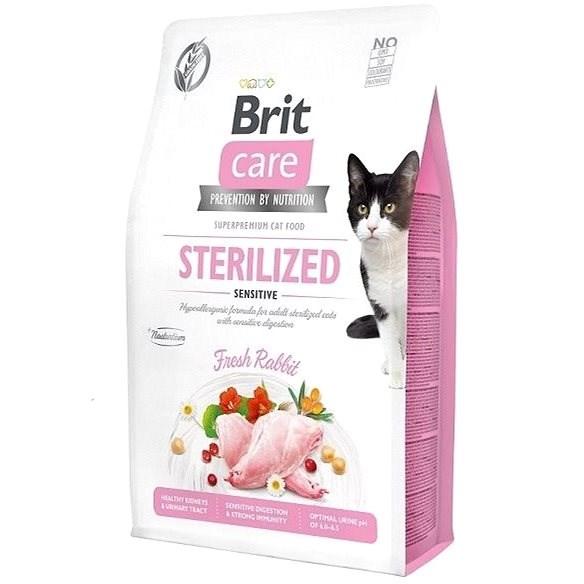 Brit Care Cat Grain-Free Sterilized Sensitive, 2 kg - Granule pro kočky