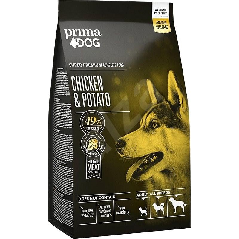 PrimaDog Kuře s bramborami pro dospělé psy všech plemen, 2 kg - Granule pro psy