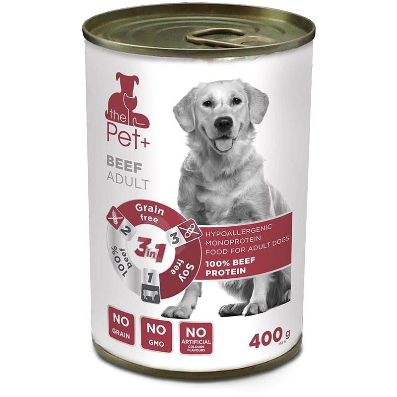 ThePet+ Dog tin Beef 400 g - Konzerva pro psy