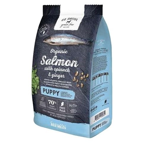 Go Native Puppy Salmon with Spinach and Ginger 12kg - Granule pro psy
