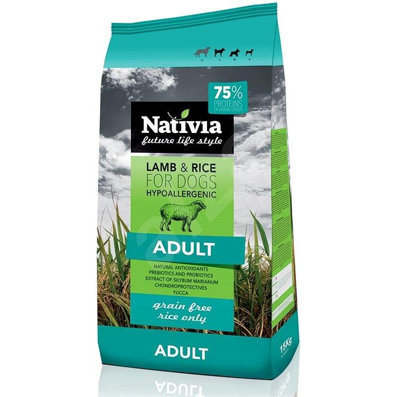 Nativia Adult lamb & rice 15 kg - Granule pro psy