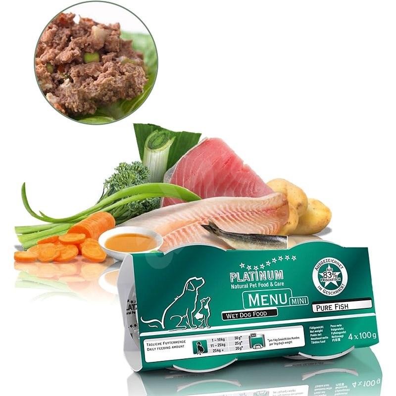 Platinum natural menu mini pure fish 4 x 100 g - Paštika pro psy
