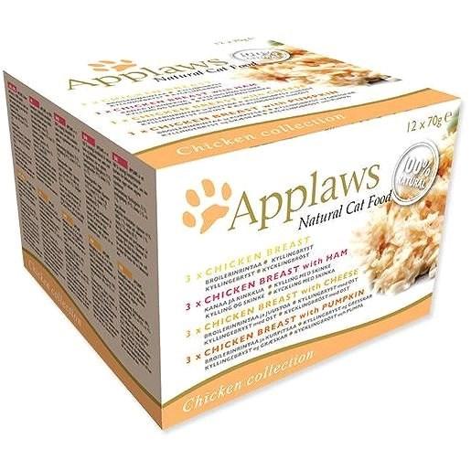 Applaws konzerva Cat multipack kuřecí výběr 12 × 70 g - Konzerva pro kočky