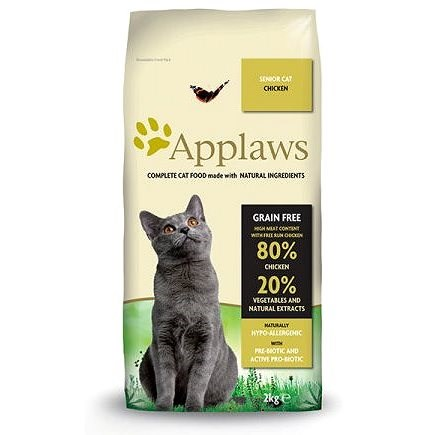 Applaws granule Cat Senior kuře 2 kg - Granule pro kočky