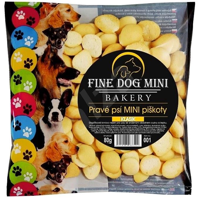 Fine Dog mini bakery piškoty pro malá plemena psů 6 × 80 g klasik - Psí piškoty