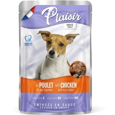 Plaisir Dog Pouches Chicken  with Vegetables 22 × 100g - Dog Pouch Food
