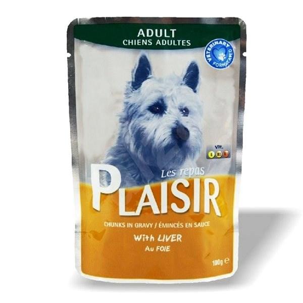Plaisir Dog kapsička s játry 22 × 100 g - Kapsička pro psy