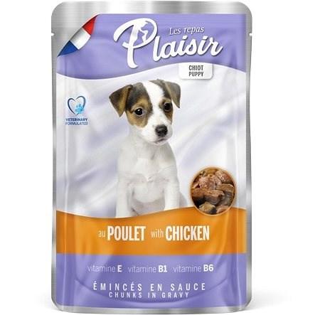 Plaisir Dog kapsička puppy pro štěňata s kuřecím 22 × 100 g - Kapsička pro psy