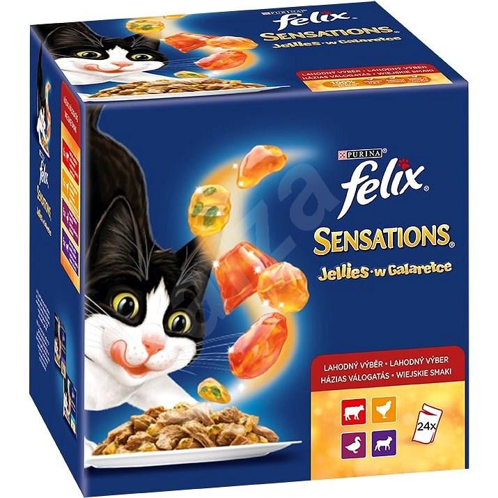 Felix sensations jellies (24 × 100 g) - výběr v och. želé - Kapsička pro kočky