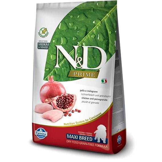 N&D grain free dog puppy maxi chicken & pomegranate 2,5 kg - Granule pro štěňata