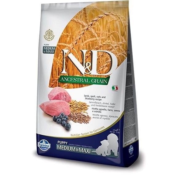N&D ancestral grain dog puppy M/L lamb & blueberry 12 kg - Granule pro štěňata