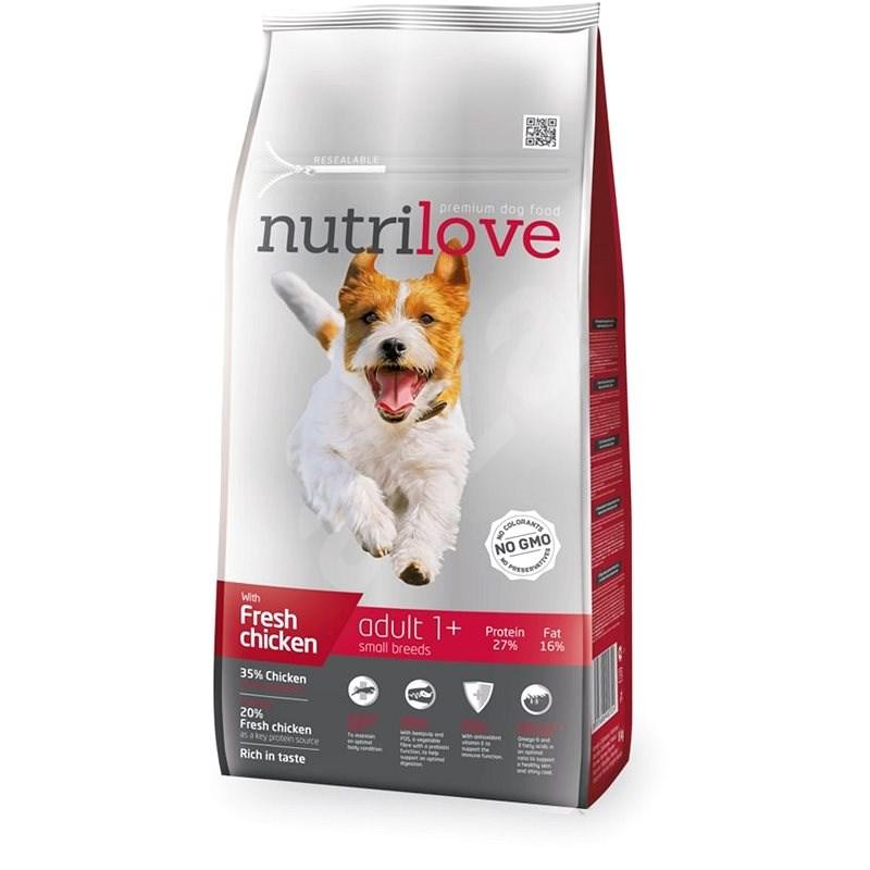 Nutrilove ADULT S fresh chicken 8 kg - Granule pro psy