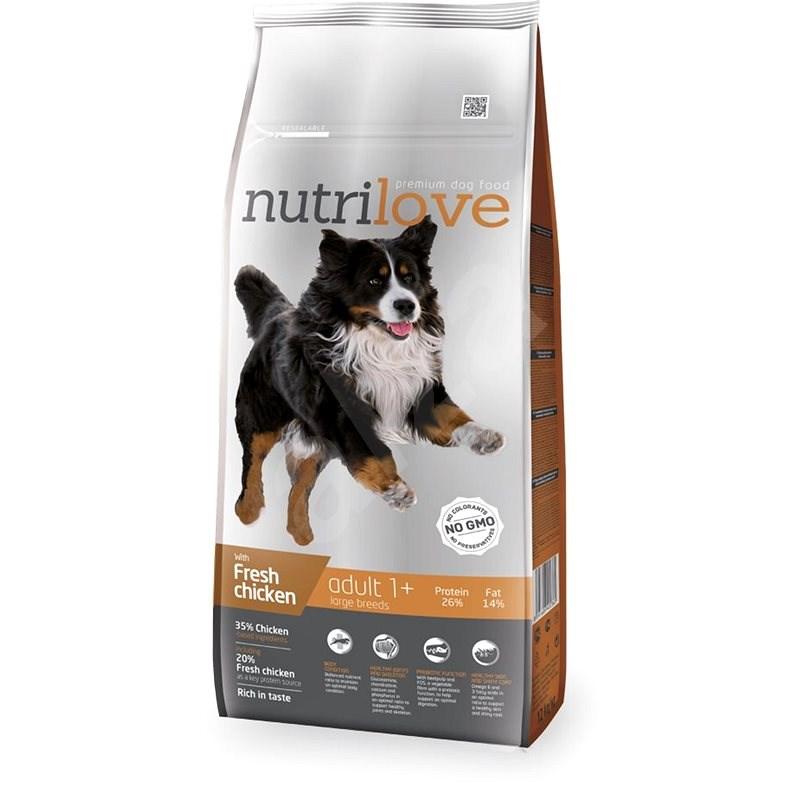 Nutrilove ADULT L fresh chicken 12 kg - Granule pro psy