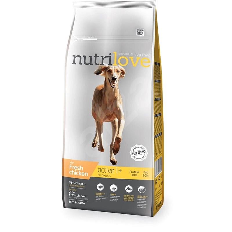 Nutrilove ACTIVE Fresh Chicken 12kg - Kibble for Dogs