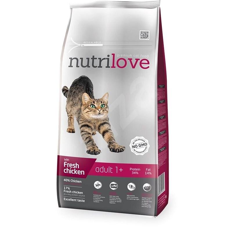 Nutrilove ADULT cat fresh chicken 8 kg - Granule pro kočky