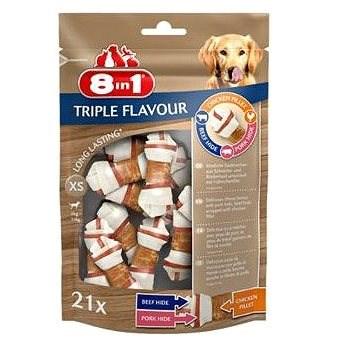 Pochoutka 8in1 Triple Flavour XS (21ks) - Kost pro psy