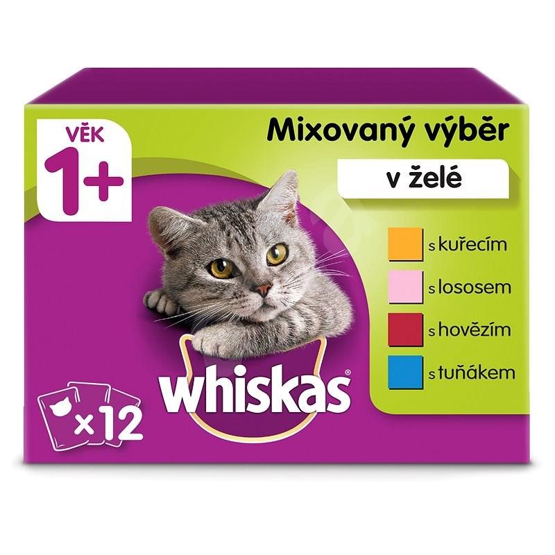 Whiskas kapsička mixovaný výběr v želé pro dospělé kočky 12 × 100 g - Kapsička pro kočky