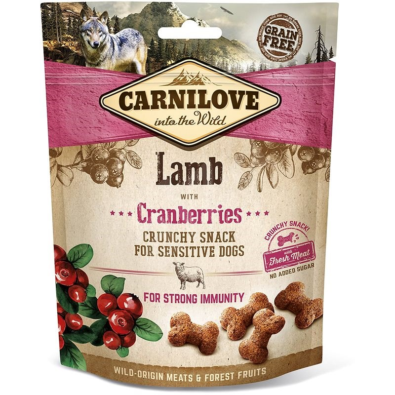 Carnilove Dog Crunchy Snack Lamb with Cranberries with Fresh Meat 200g - Dog Treats