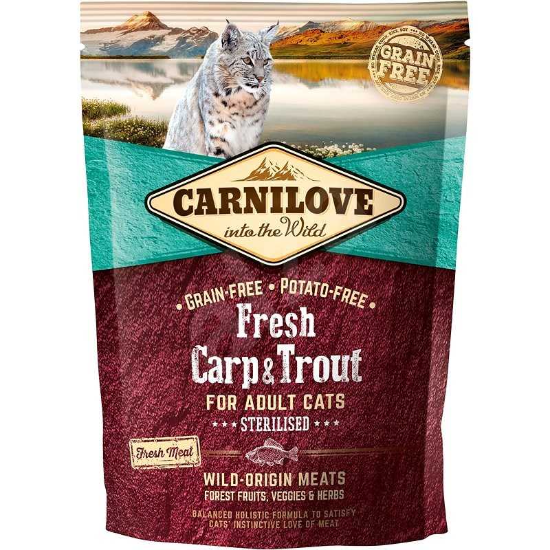 Carnilove fresh carp & trout sterilised for adult cats 400 g - Granule pro kočky