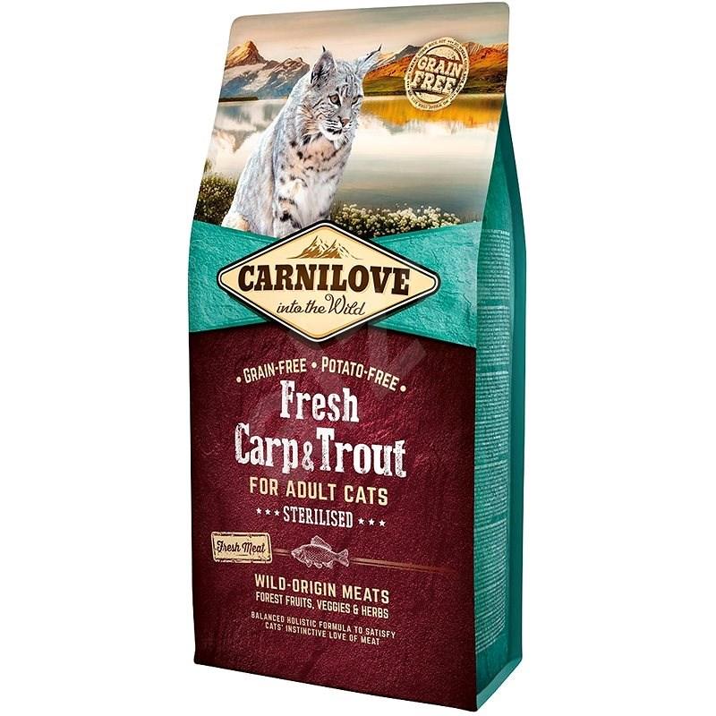 Carnilove fresh carp & trout sterilised for adult cats 6kg - Granule pro kočky