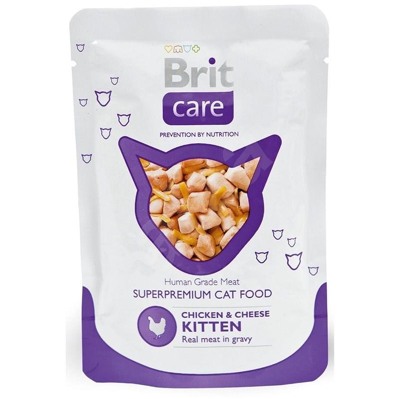 Brit Care Cat Chicken & Cheese KITTEN Pouch 80 g - Kapsička pro kočky