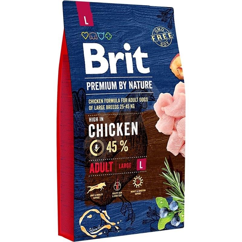 Brit Premium by Nature Adult L 8 kg - Granule pro psy