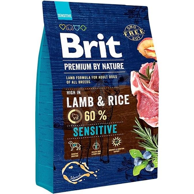 Brit Premium by Nature Sensitive Lamb 3 kg - Granule pro psy