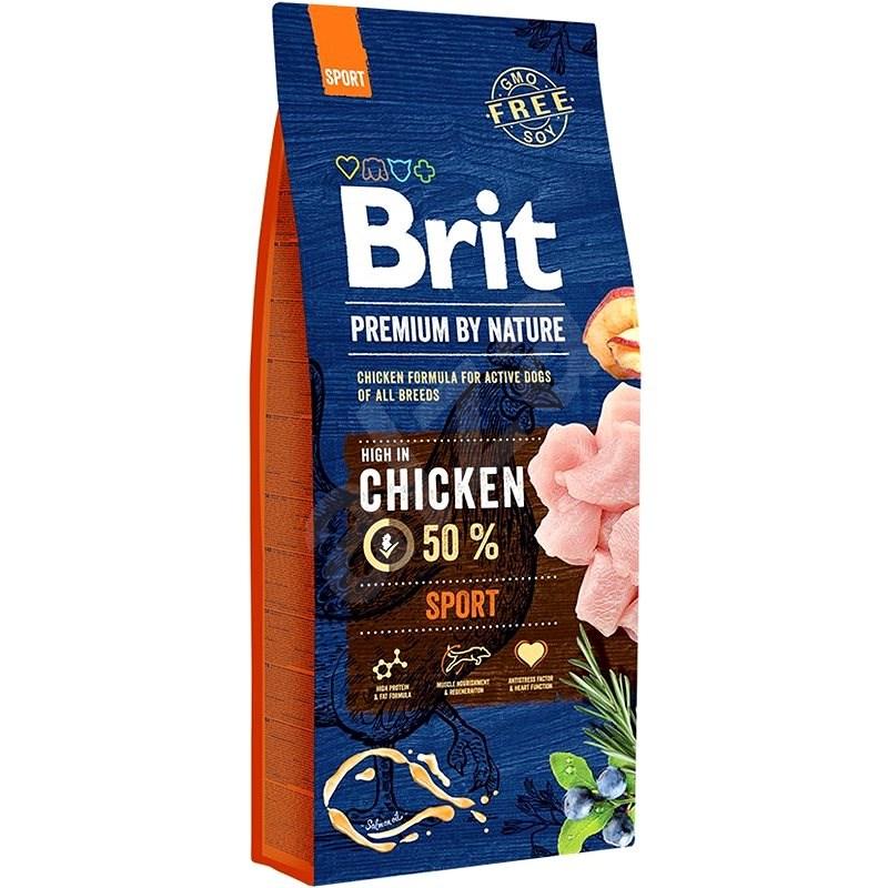 Brit Premium by Nature Sport 15 kg - Granule pro psy