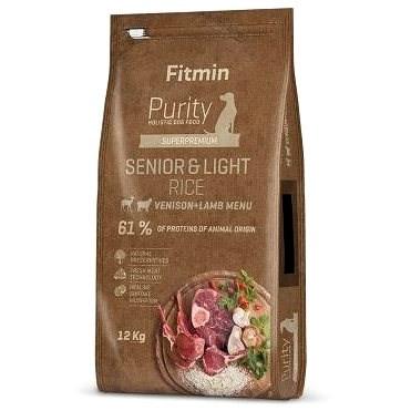 Fitmin dog Purity Rice Senior&Light Venison&Lamb - 12 kg - Granule pro psy