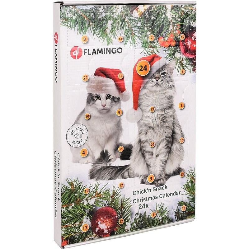Flamingo Adventní kalendář s kuřecími pamlsky pro kočky - Adventní kalendář pro kočky