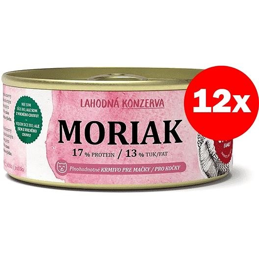 Pet Farm Family Moriak 12 × 100 g - Konzerva pro kočky