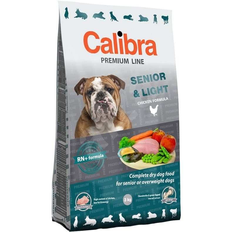 Calibra Dog Premium Line Senior & Light 3 kg - Granule pro psy