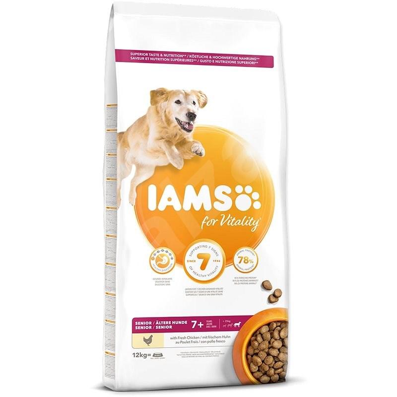 IAMS Dog Senior Large Chicken 12kg - Granule pro psy