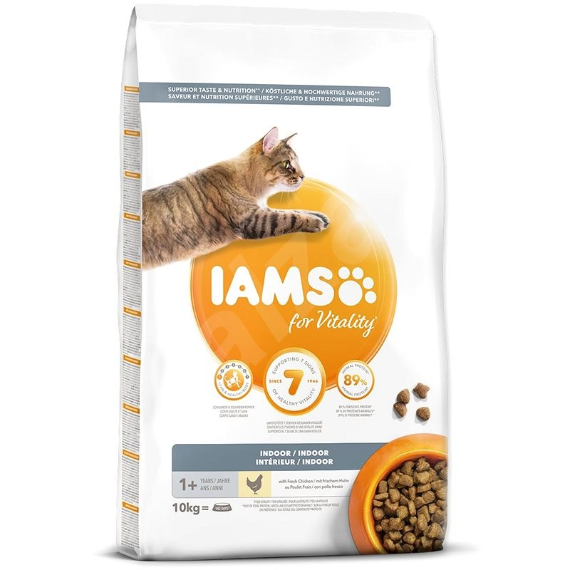 IAMS Cat Adult Indoor Chicken 10kg - Granule pro kočky