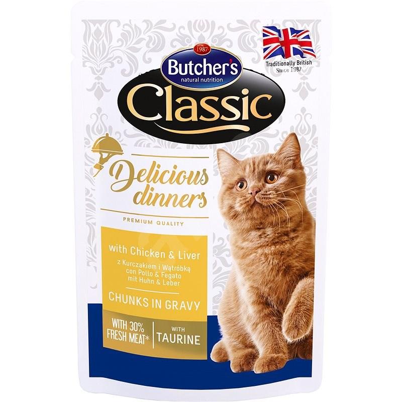 Butcher´s Classic Delicious Dinners s kuřecím masem a játry CIG 100 g - Kapsička pro kočky