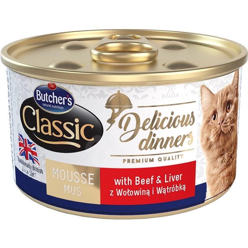 Butcher´s Classic Delicious Dinners  konzerva s hovězím masem a játry 85 g - Konzerva pro kočky