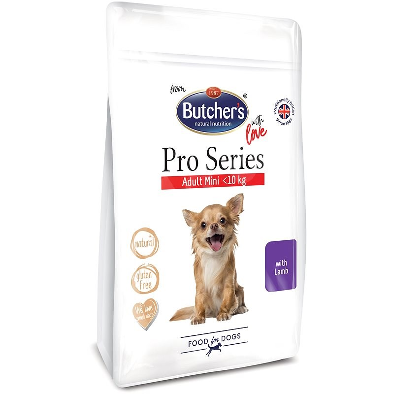 Butcher's Pro Series granule pro malé psy s jehněčím 800 g - Granule pro psy