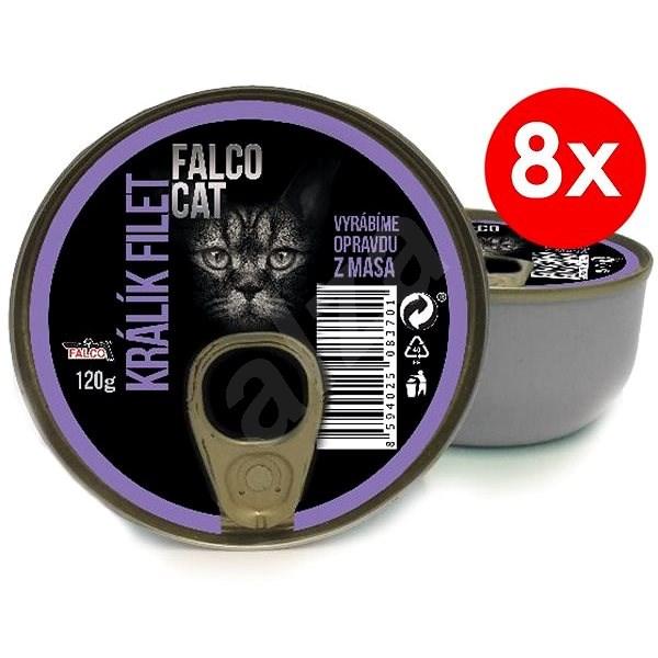 FALCO CAT 120 g králík filet, 8 ks - Konzerva pro kočky