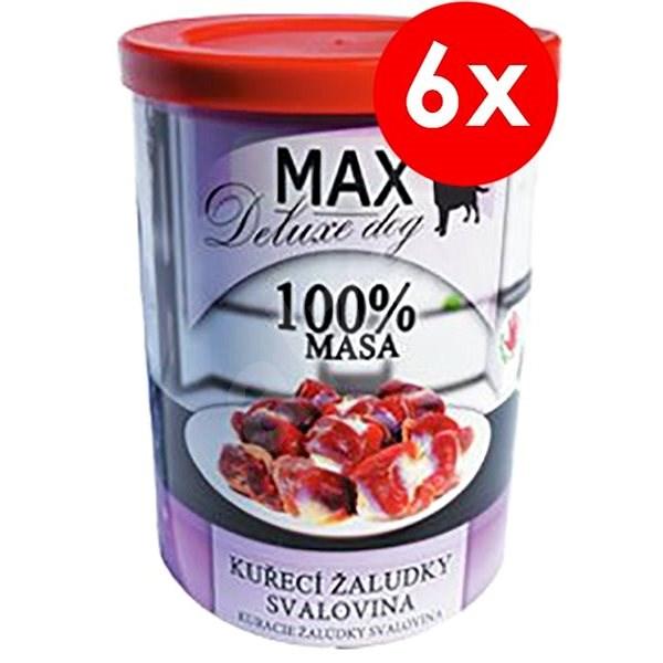 MAX deluxe kuřecí žaludky - svalovina 400g, 6ks - Konzerva pro psy