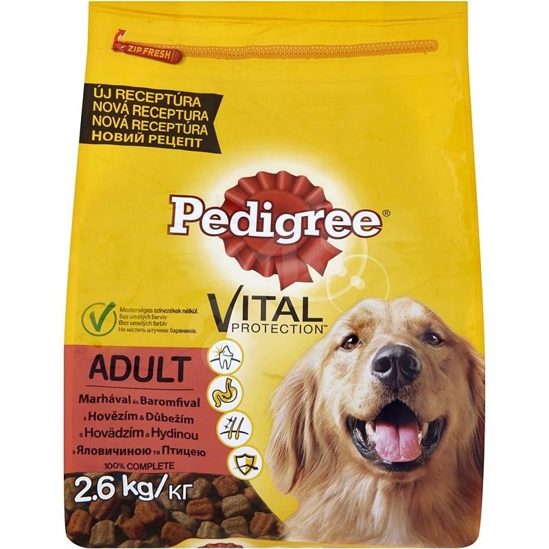 Pedigree granule Adult s hovězím a drůbežím 2,6 kg - Granule pro psy