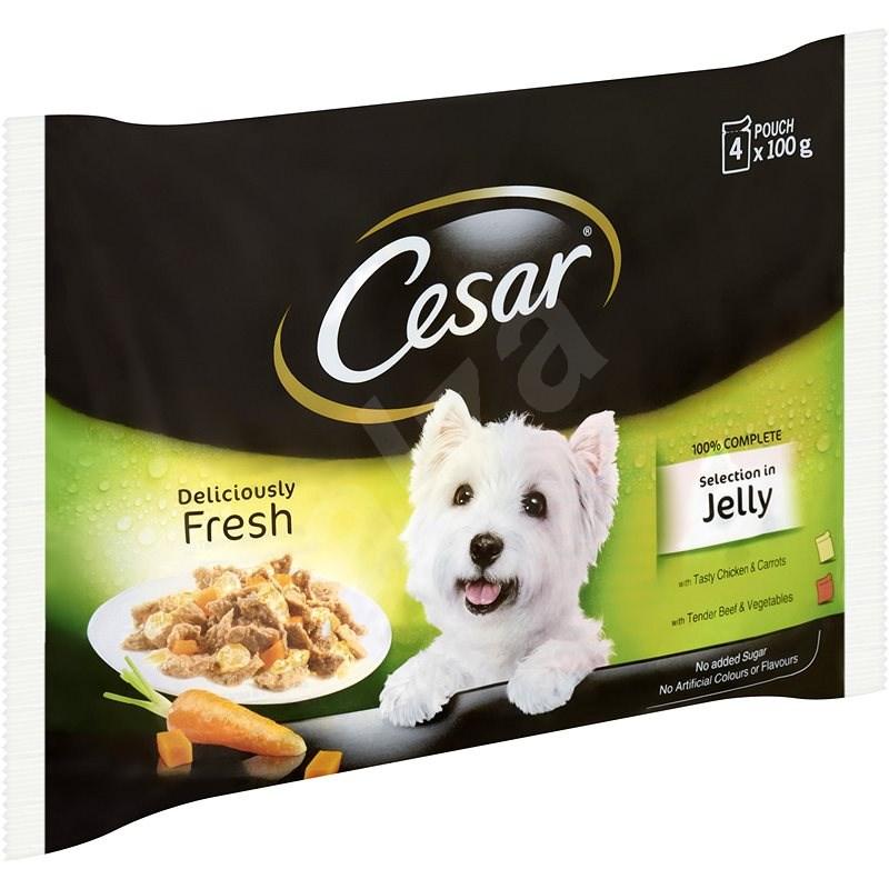 Cesar kapsička masový výběr v želé pro dospělé psy 4 × 100 g - Kapsička pro psy