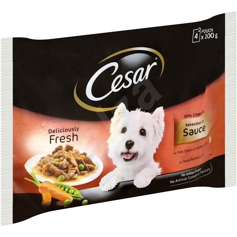 Cesar kapsička masový výběr ve šťávě pro dospělé psy 4 × 100 g - Kapsička pro psy